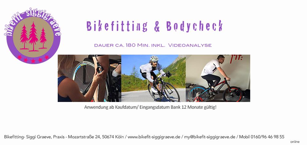 Bikefitting Gutschein zum Ausdrucken