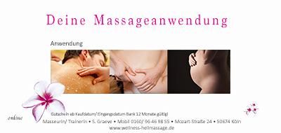 Massage Gutschein zum Ausdrucken